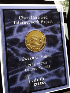 The CCIE Plaque